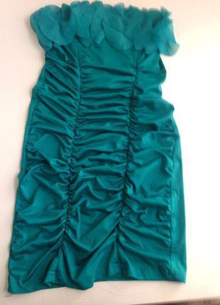 Бирюзовое платье на корпоратив вечеринку новый год