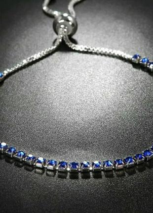 Красивое нежненькое украшение браслет со стразами в бархатном чехольчике . бижутерия .