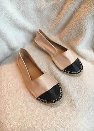 Классные туфли эспадрильи мокасины стелька 22,5см распродажа все по 50грн