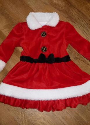 Новогоднее платье,  снегурочка на 9-12 мес в идеале