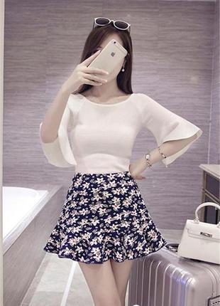 Летняя шифоновая юбка в цветочный принт от atmosphere