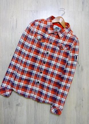 Женская рубашка- куртка в клетку, утепленная