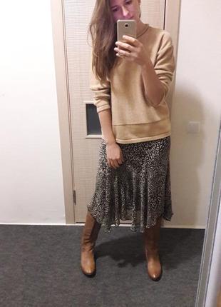 Шифоновая юбка асимметрия леопард