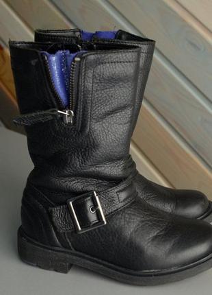 Сапоги высокие кожа ботинки clarks (26f)