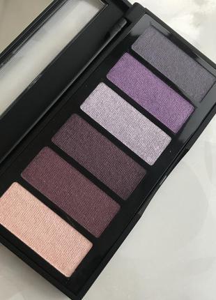 Палитра итальянских теней для глаз с зеркальцем от aden номер 2 bordeaux/lilac
