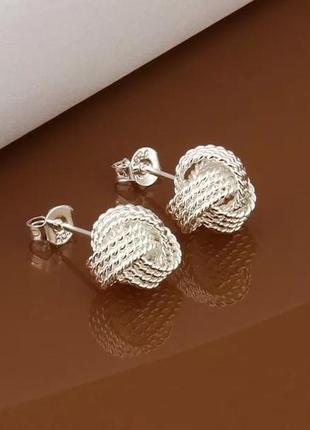 Сережки стерлинговое серебро 925 .серьги .