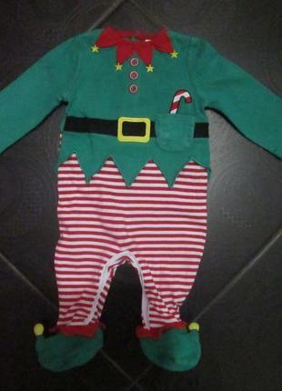 Новогодний костюм 1-3 мес при заказе 2-ух вещей 3-тья дешевле в подарок
