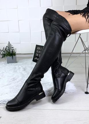 Шикарные ботфорты деми на низком каблуке. размеры с 36 по 41