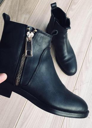 Ботинки сапоги zara челси кожа