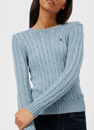 Шикарный из 100% котона брендовый свитер ralph lauren оригинал