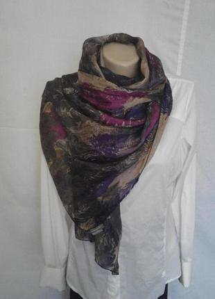 Красивый шарф,100%шелк,