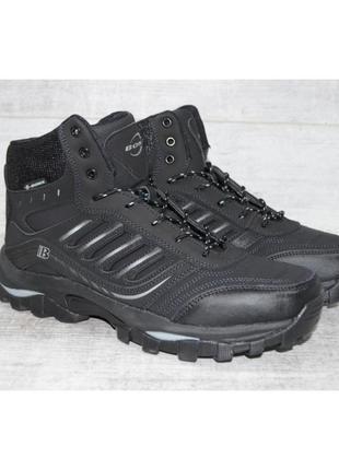 Мужские зимние ботинки bona, кожа, р-р 41-46