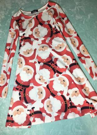 Платье новогоднее с сантой misslook s-m