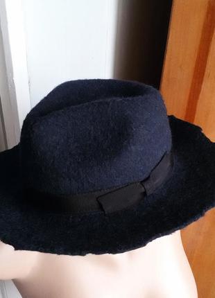 Шерстяная шляпа / капелюх zara 100% шерсть