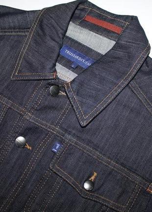 Джинсовый пиджак trussardi jeans оригинал