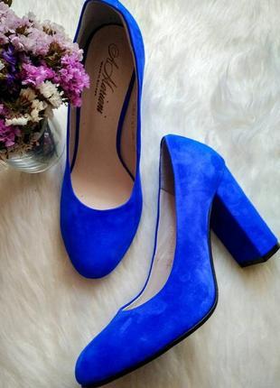 Яскраві туфлі замша