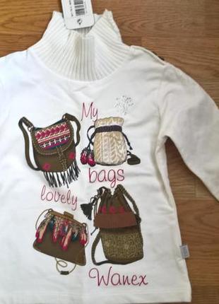 Свитерок кофта свитшот водолазка на девочку 104см wanex венгрия