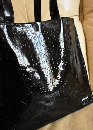1d79ab11a49d Vip – dkny - оригинал – большая лакированная сумка шоппер DKNY, цена ...
