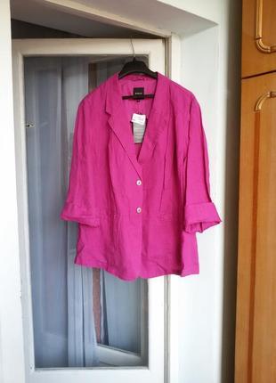 Яркий трендовый льняной пиджак  bonita 100% лен