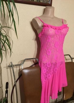 Фирменное яркое эротичное белье пеньюар ночнушка  р.ххс-м hd fashion