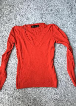 Джемпер, кофта, свитер zara красный