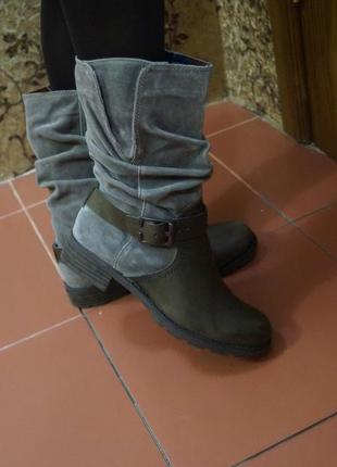 Кожаные сапоги ботинки в стиле милитари3 фото