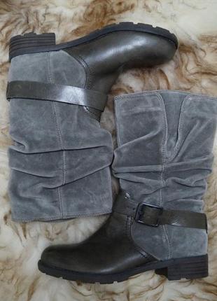 Кожаные сапоги ботинки в стиле милитари5 фото