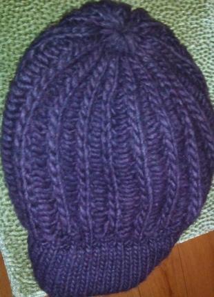 Брендовая теплая шапка-берет clockhouse. 1+1=3