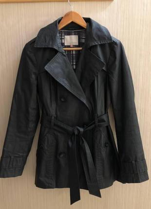 Черное пальто john lewis в отличном состоянии, m