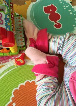 Тёплые флисовые пинетки на 12-18 месяцев, новые