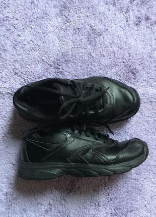 Кроссовки reebok leather кожа черные идеал на осень