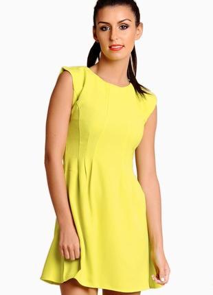 Яркое лимонное платье ax paris