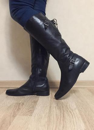 Сапоги кожаные утеплённые janet d 40 размер