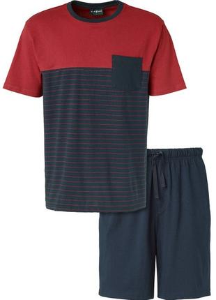 Мужская пижама домашний костюм для дома topolino германия. размер л и хл