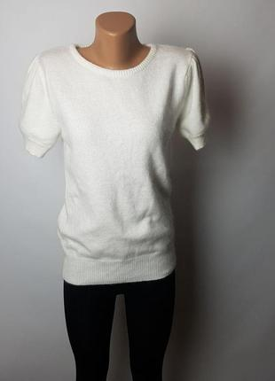 Фирменный кашемировый белый свитер джемпер 100%кашемир