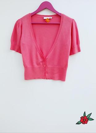 Нежно розовый джемпер кардиган укороченый джемпер