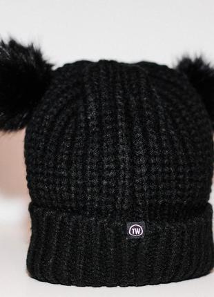 Чудесная теплая шапка tally weijl, италия!100% акрил!