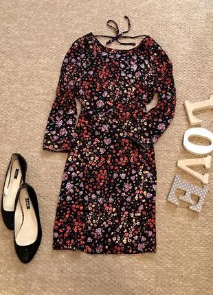 Красивейшее платье с вискозы в цветочный принт
