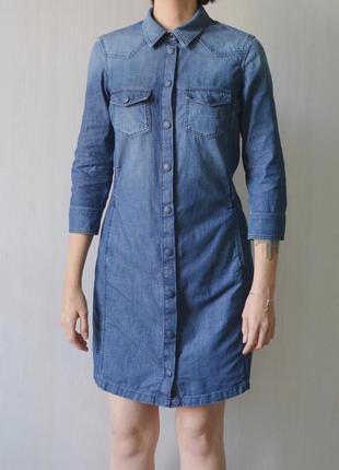 Джинсовое платье jacob cohen из японского денима итальянского люксового бренда