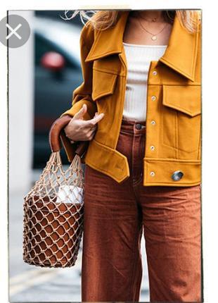 Сумка ведро авоська плетеная стиль staud