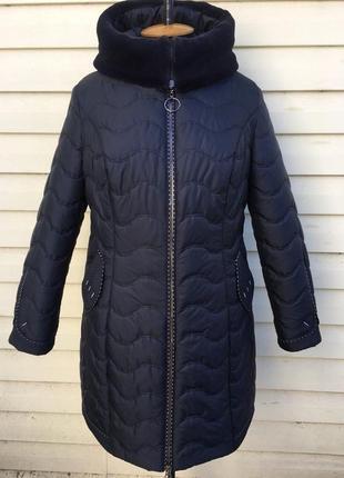 Пальто волна  с мехом воротником ..54 по 64 , королевские формы