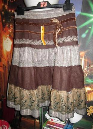 Крутая винтажная юбка (шерсть) обхват талии - 68см.