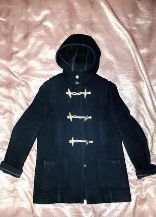 Topshop шерстяное пальто дафлкот с боковыми карманами