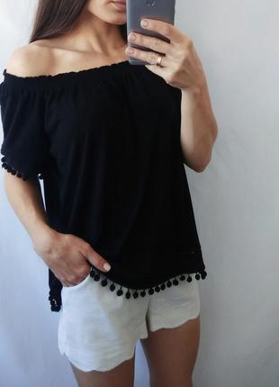 Блуза с открытыми плечиками