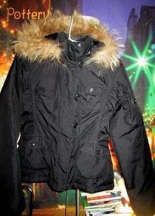 42-44р. naf-naf пуховая куртка с капюшоном