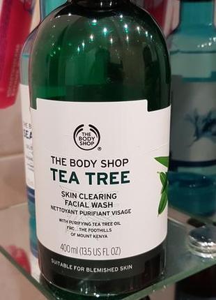 The body shop tea tree skin clearing facial wash гель для умывания