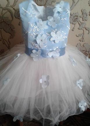Платье нарядное, бальное 2-3 года