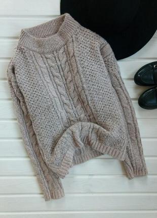 Теплый кремовый свитер atmosphere