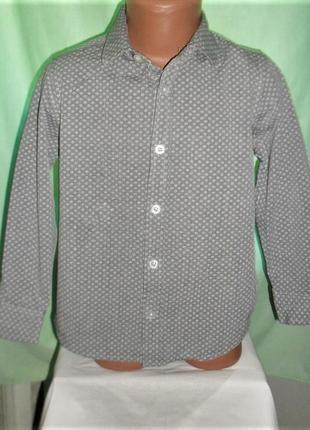 Рубашка m&s 6-7лет рост 122