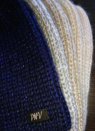 Вязаная теплая шапка с люриксом5